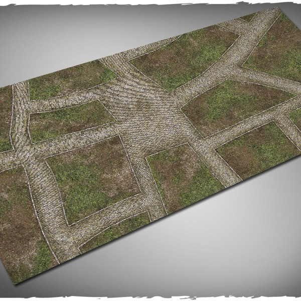 cobblestone streets game mat for runewars 3x6