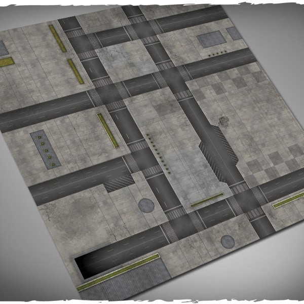 dropzone commander miniature game play mat 4x4
