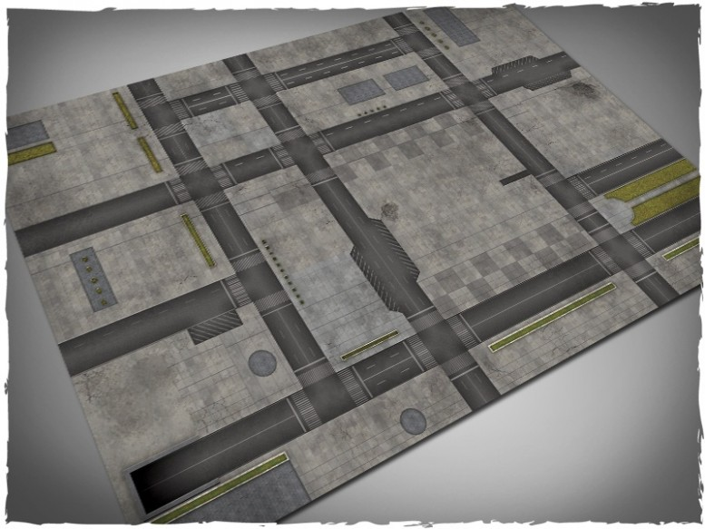 dropzone commander miniature game play mat 4x6