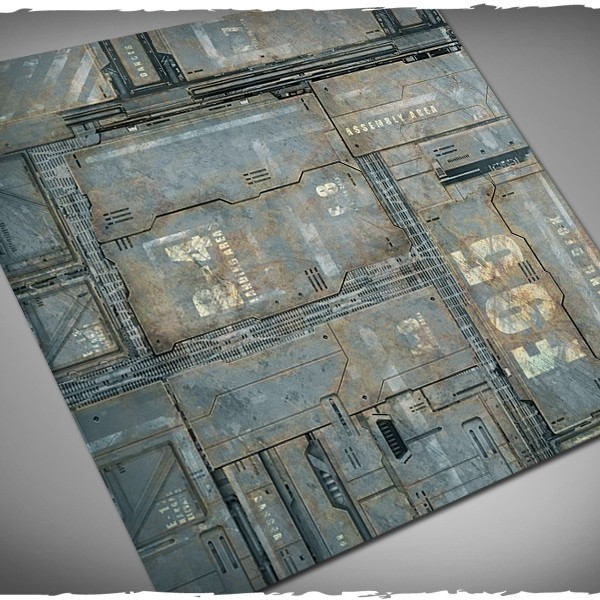 miniature game mat space hulk theme 3x3