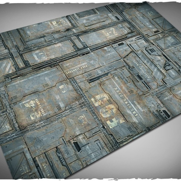 miniature game mat space hulk theme 4x6