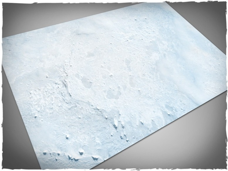 miniature games mat snow winter theme 6x4