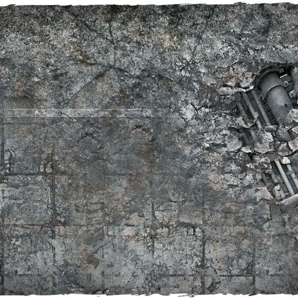 miniature games terrain mat city ruins 3