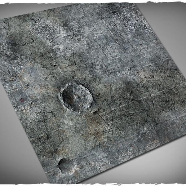 miniature games terrain mat city ruins 3x3