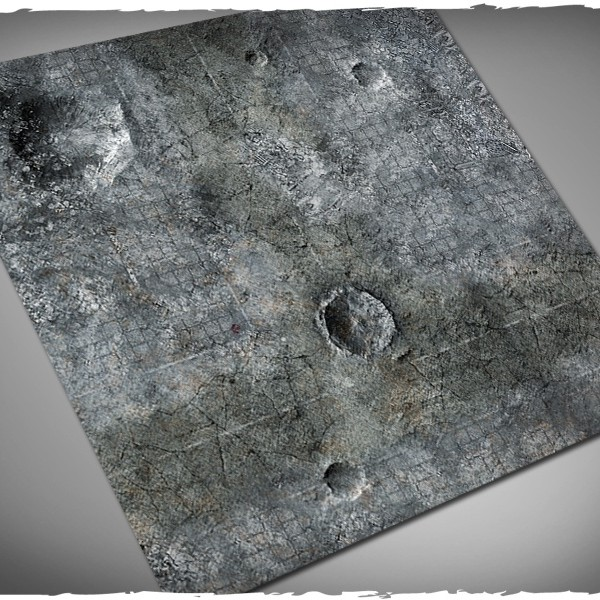 miniature games terrain mat city ruins 4x4