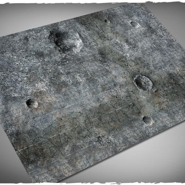 miniature games terrain mat city ruins 4x6