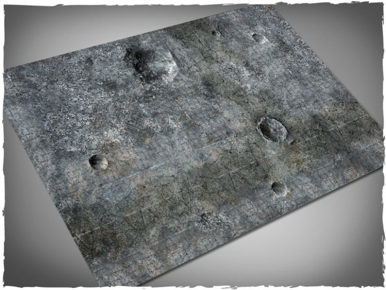 miniature games terrain mat city ruins 4x6