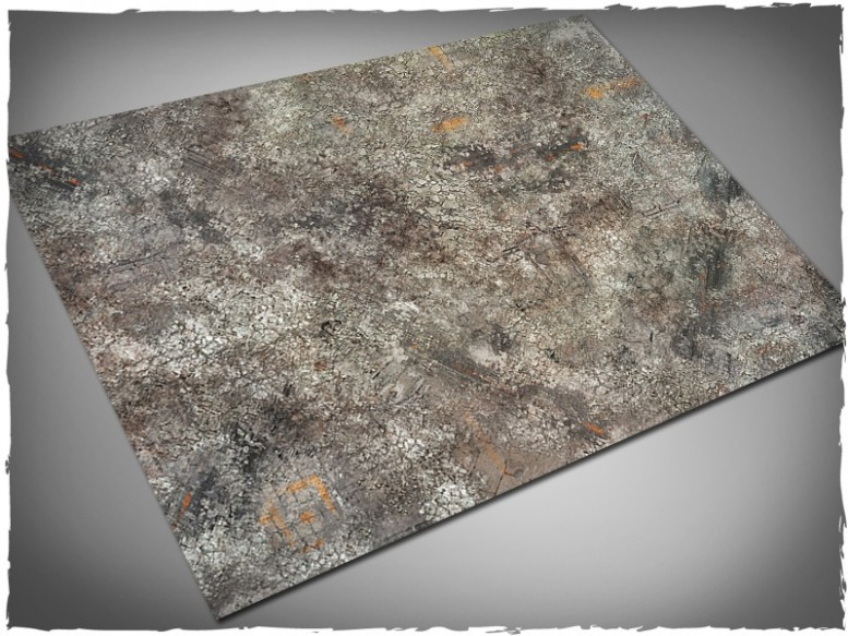 miniature gaming mat urban city ruins 4x6