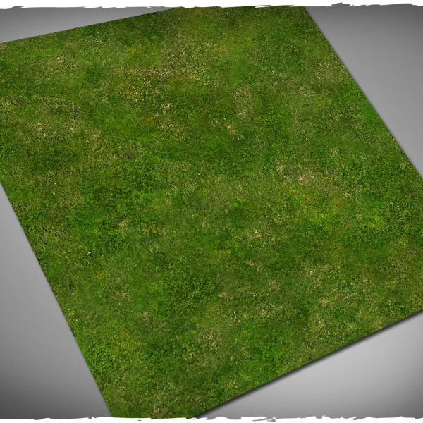 wargames miniature games play mat grass 3x3