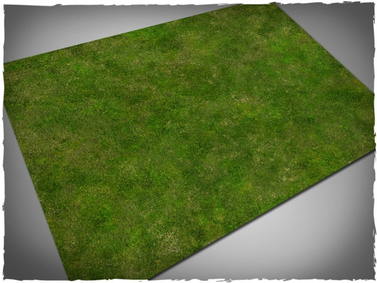 wargames miniature games play mat grass 4x6