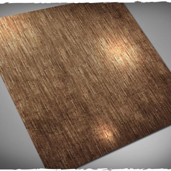 wargames play mat wooden floor planks interior 3x3