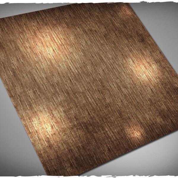 wargames play mat wooden floor planks interior 4x4