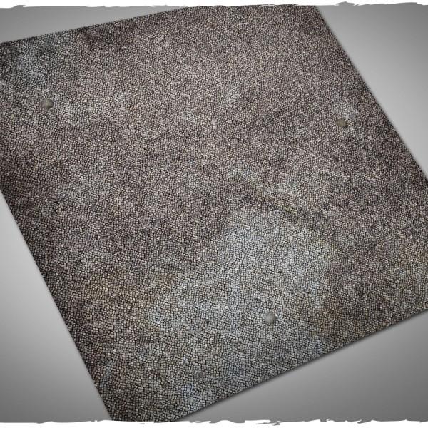 wargaming terrain mat cobblestone 3x3