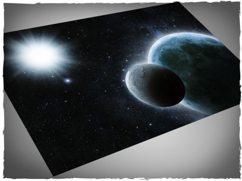 x-wing miniature game mat planets space 4x6