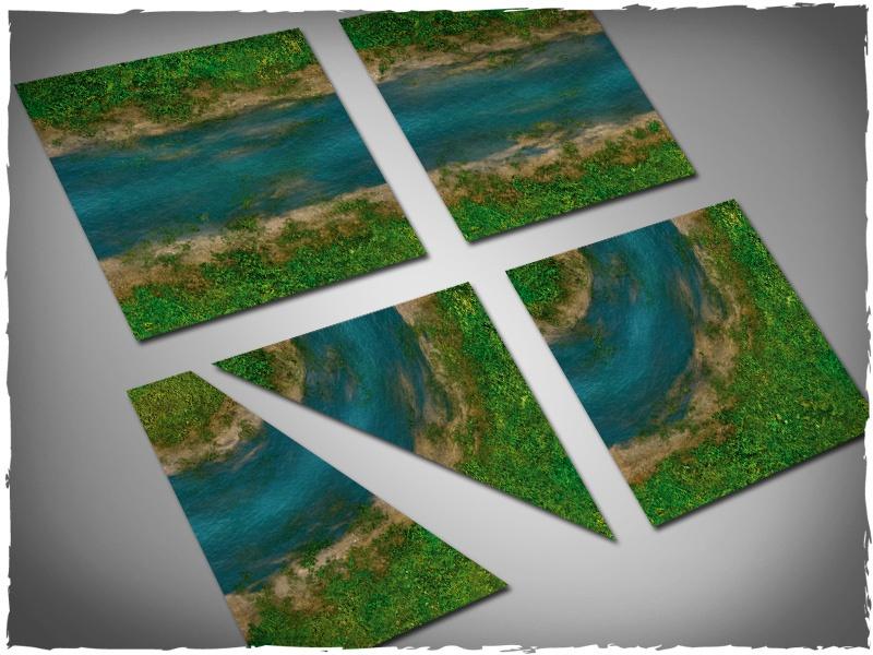 Terrain tiles set - clear river