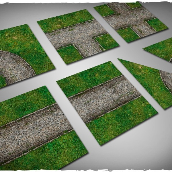 Terrain Tiles Set Cobblestone Road Deepcut Studio