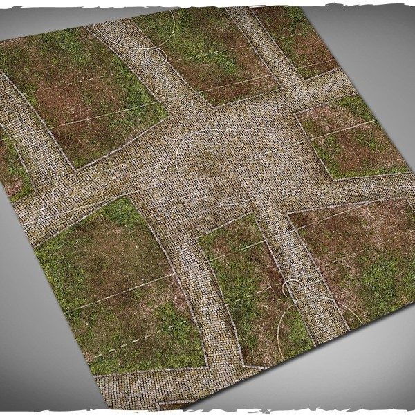 guild ball play mat pitch cobblestone streets town 1