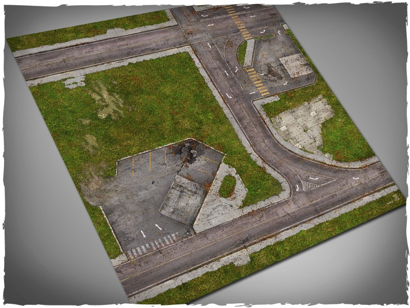 The Walking Dead Woodbury Deluxe Gaming Mat All Out War Games Spielmatte map