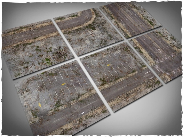 walking dead city game mat 2x2