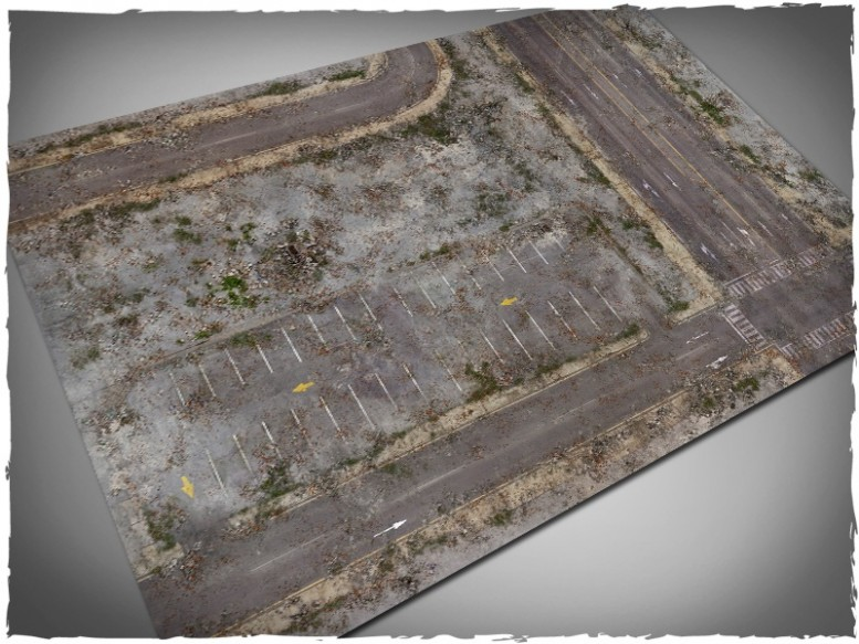 walking dead city game mat 4x6